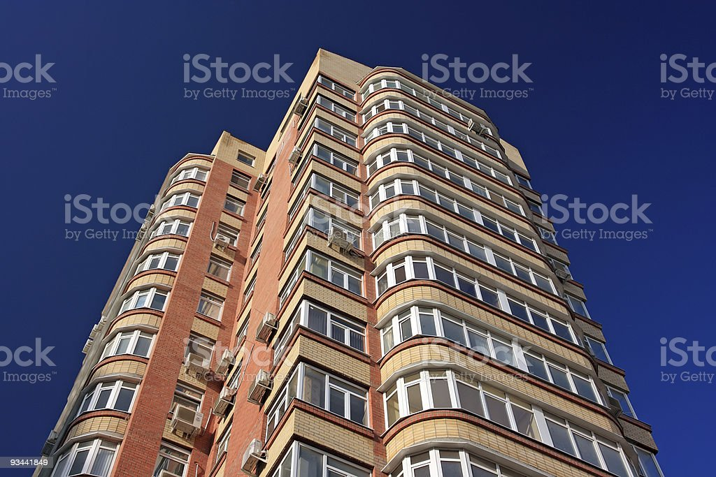 Große Residential Gebäude Lizenzfreies stock-foto