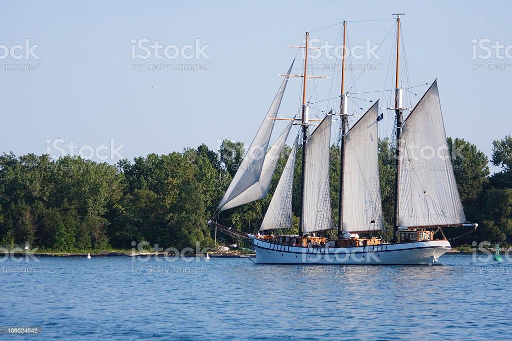 Tall sail ship in a lake royalty-free stock photo