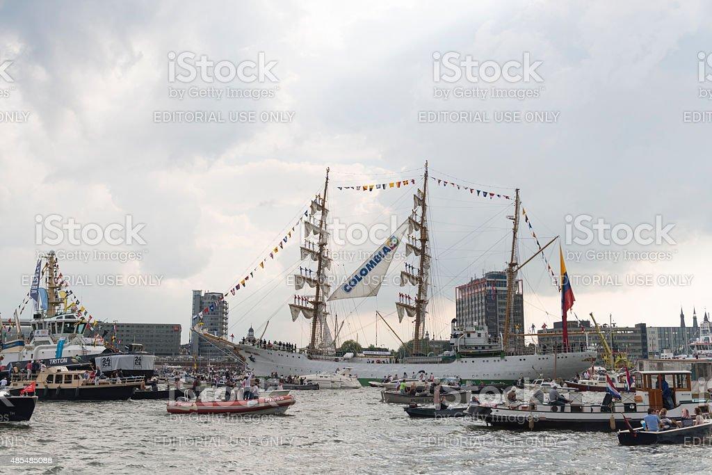 Tall ship ARC Gloria during SAIL 2015 stock photo