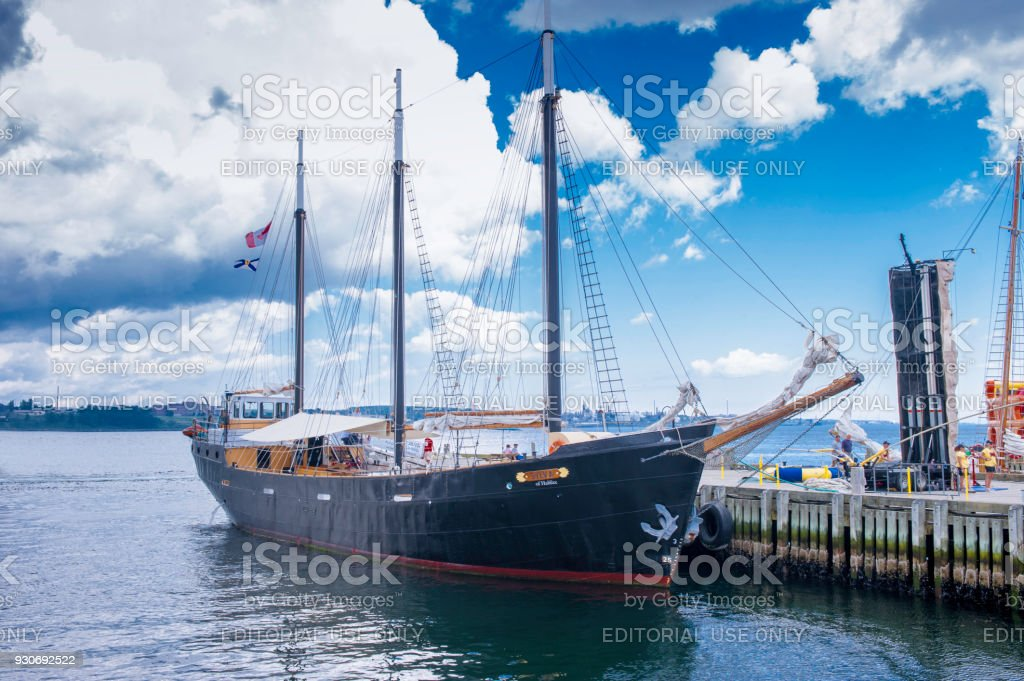 Tall Ship at Halifax Harbour stock photo