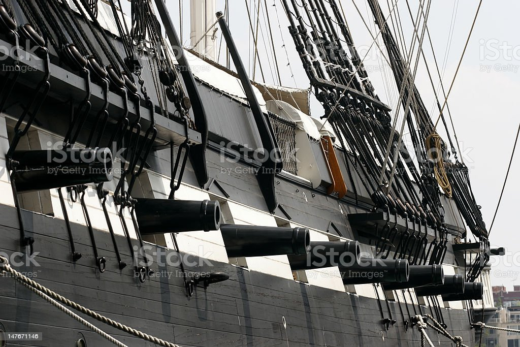 Tall ship Cannon Detail stock photo
