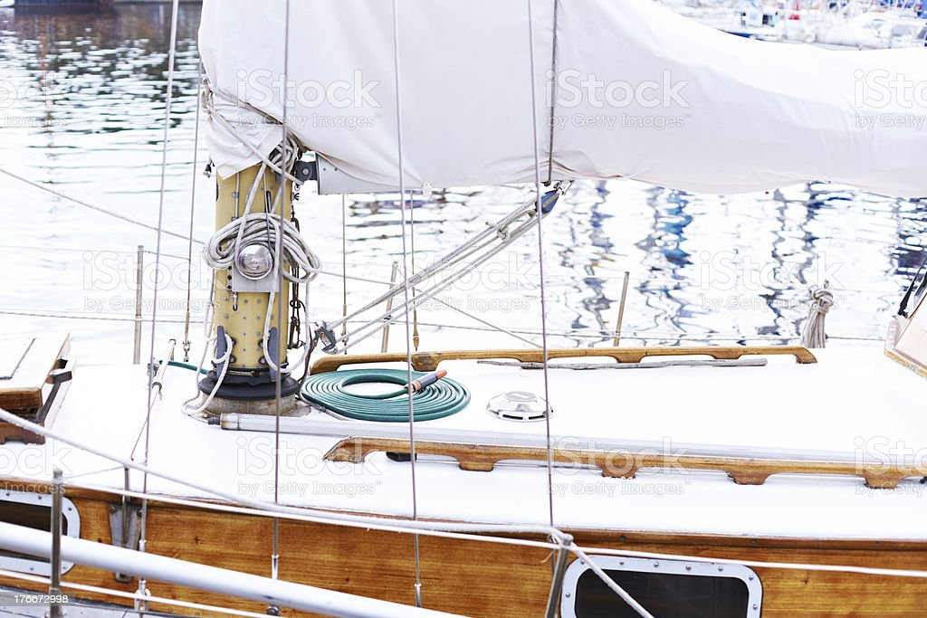 Tall ship mast royalty-free stock photo