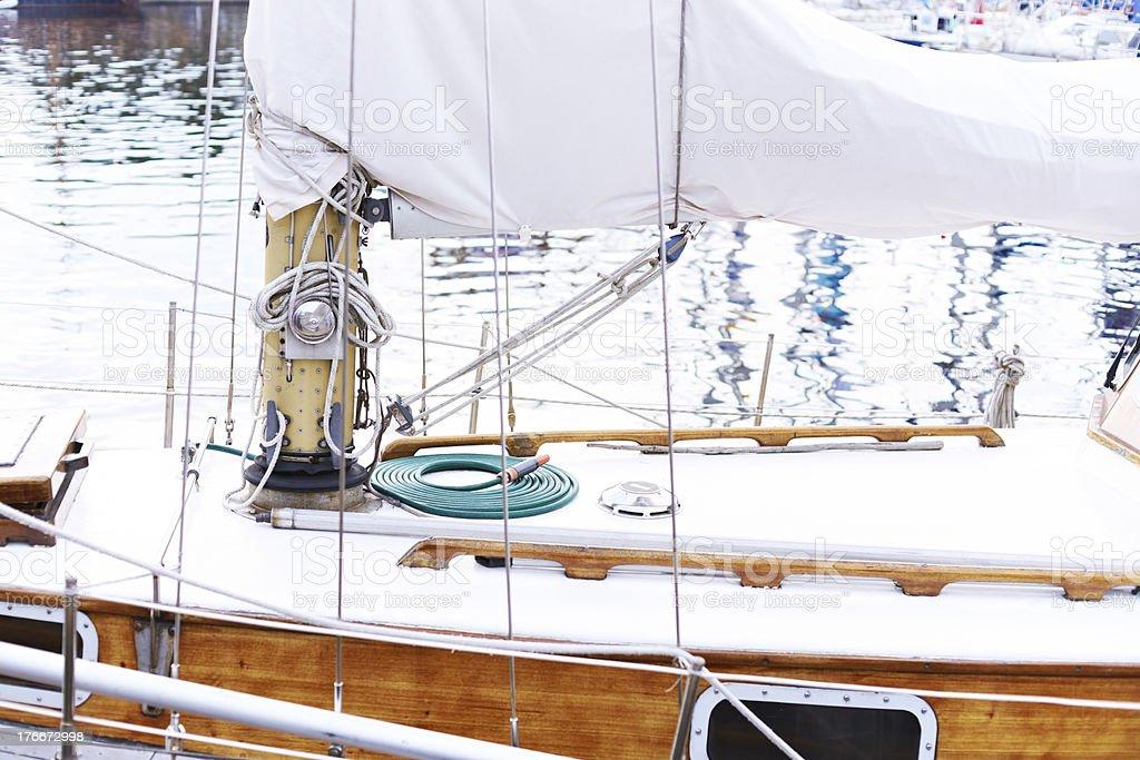 Goleta mast foto de stock libre de derechos