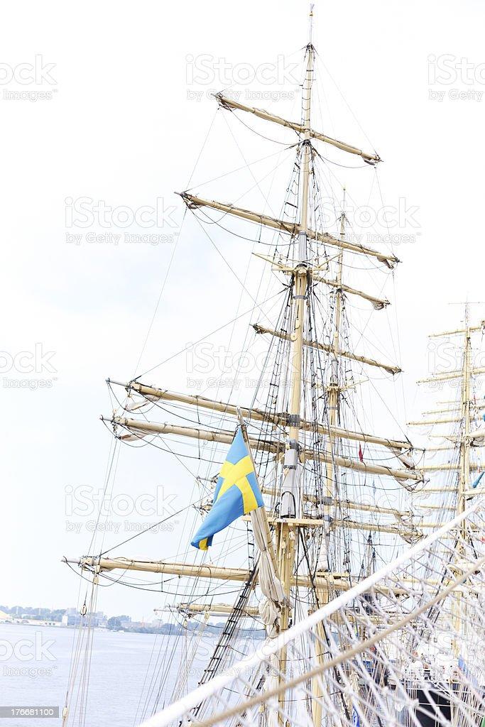 Tall ship mast royalty-free stock photo