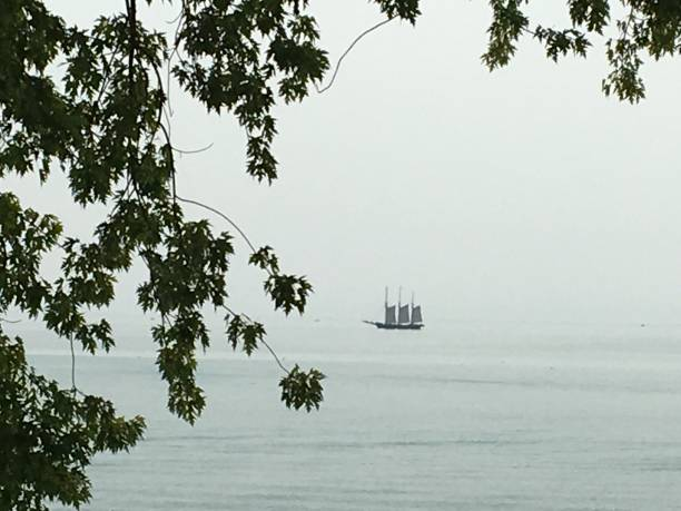 Tall Ship On The Horizon stock photo