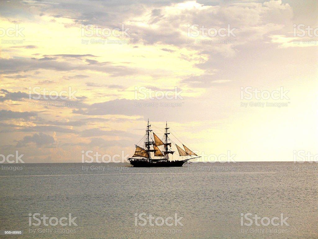 tall ship sailing stock photo