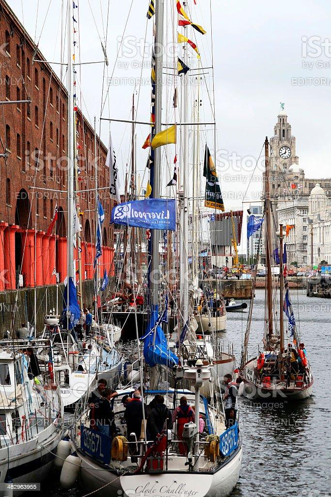 Tall ships, Albert Dock, Liverpool royalty-free stock photo