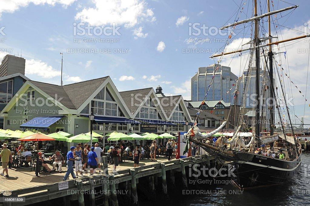 Tall Ships event in Halifax, Nova Scotia stock photo