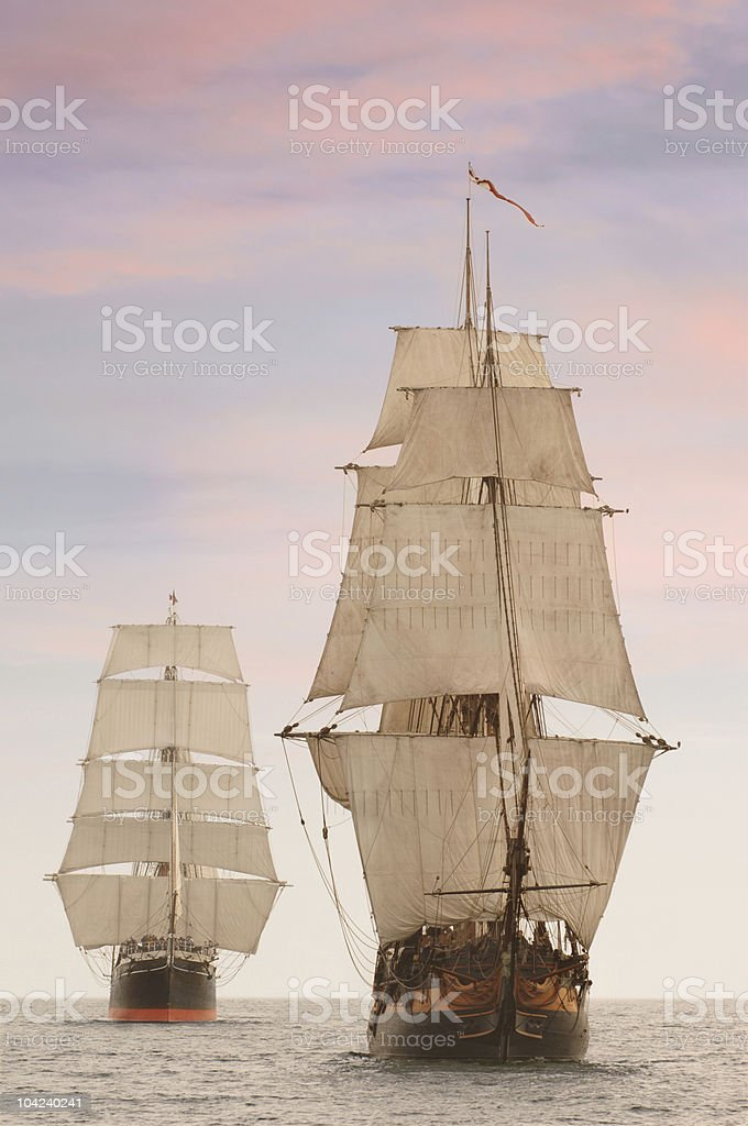 Tall Ships Front View stock photo