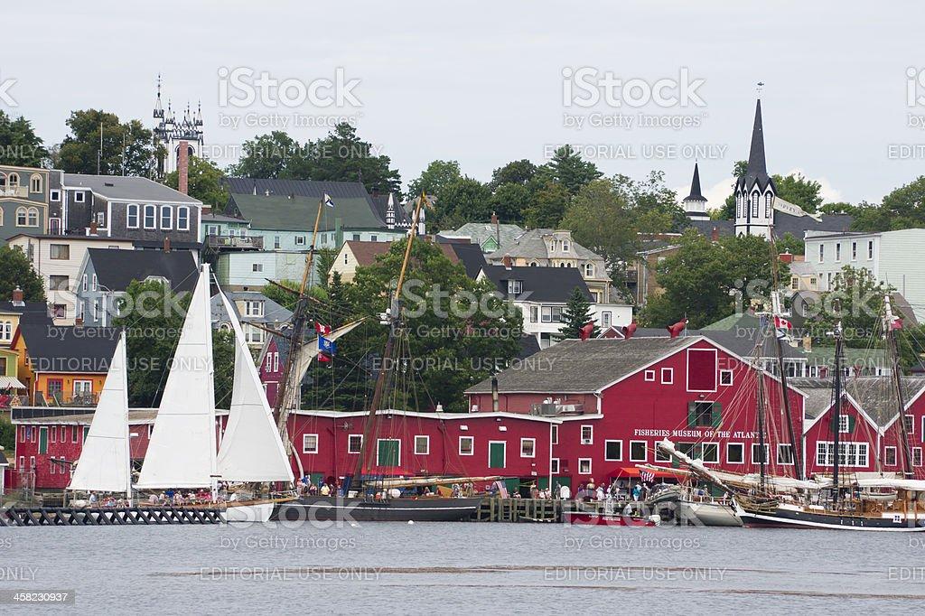 Tall Ships in Lunenburg stock photo