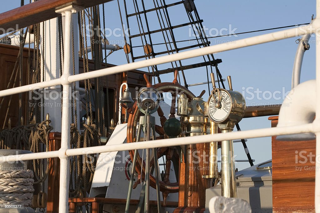 Tall ships in port royalty-free stock photo