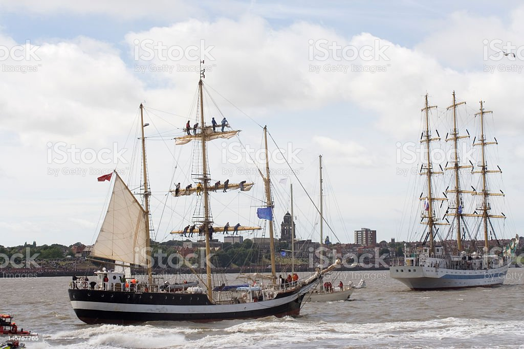 Tall ships stock photo