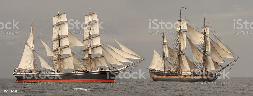 Tall Ships Profile stock photo