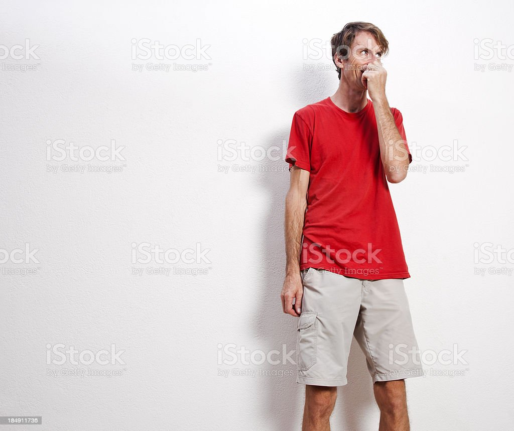 Tall skinny guy stock photo