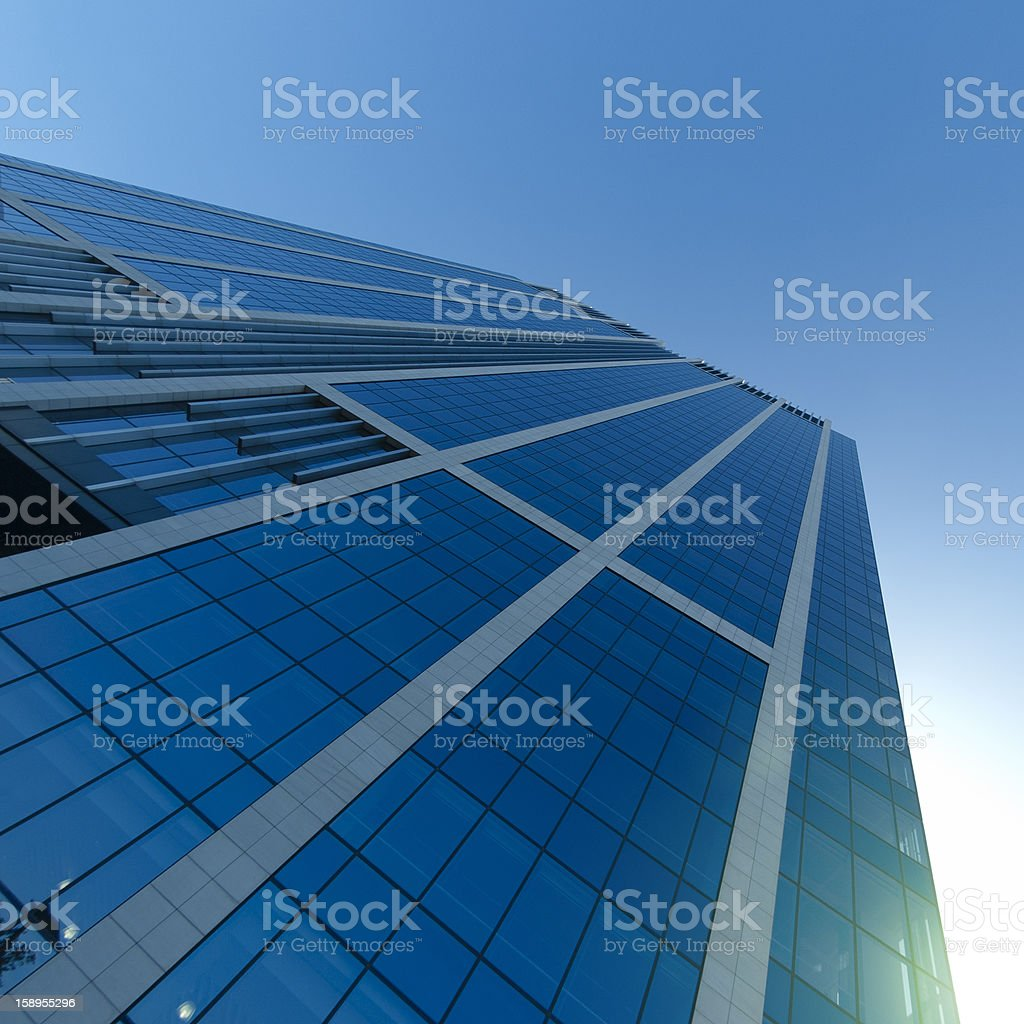 Tall skyscraper on Brussels financial district - HDR royalty-free stock photo