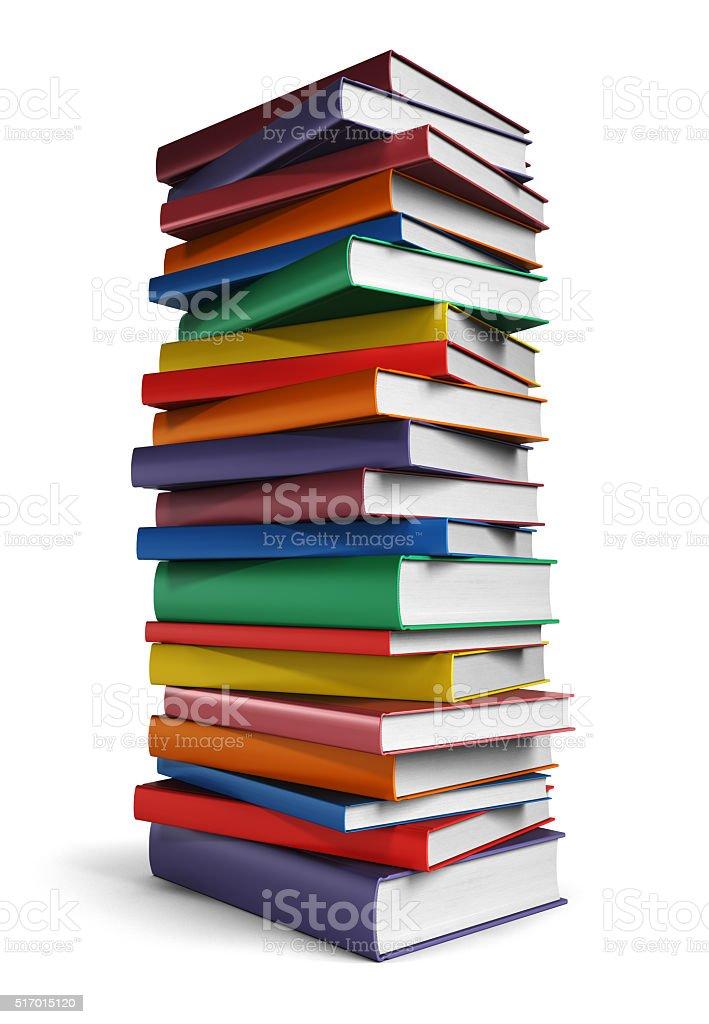 Hohe Stapel von Büchern – Foto