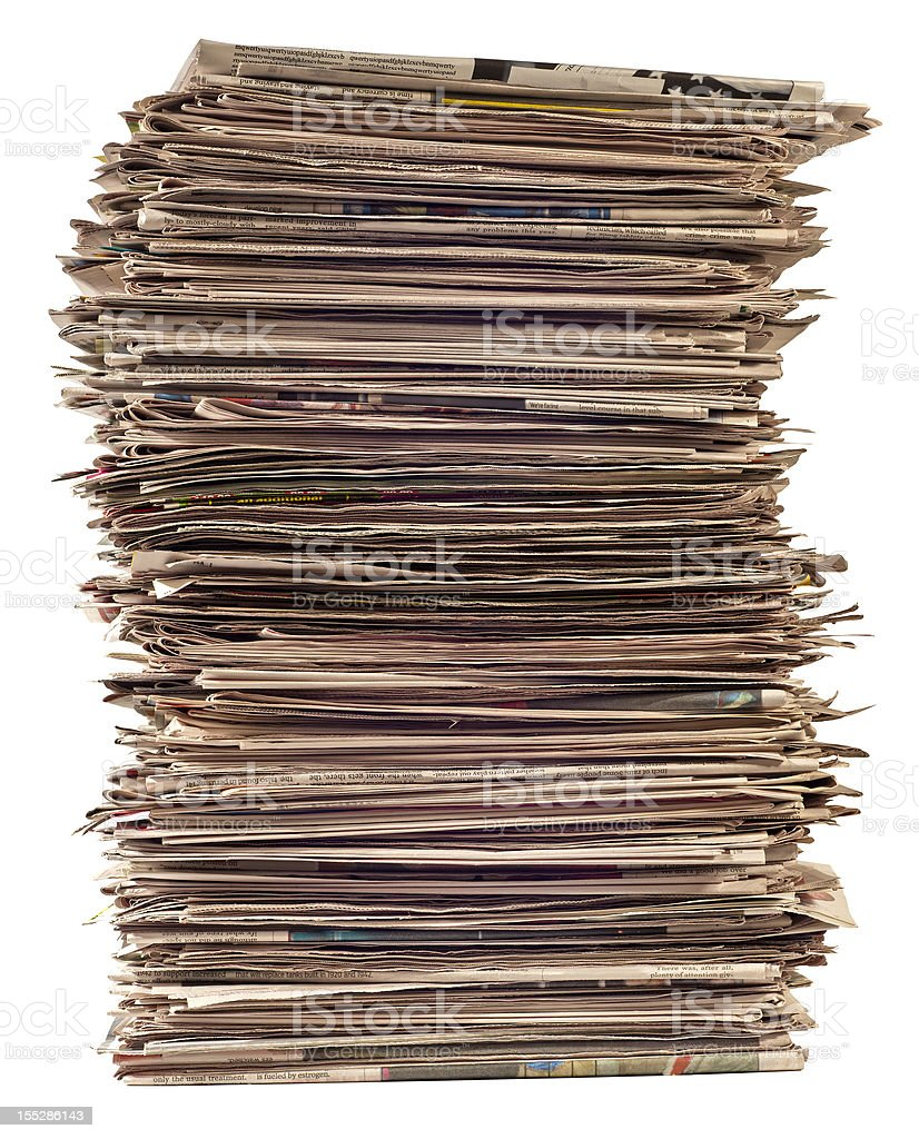 Tall Stack of Newspapers royalty-free stock photo
