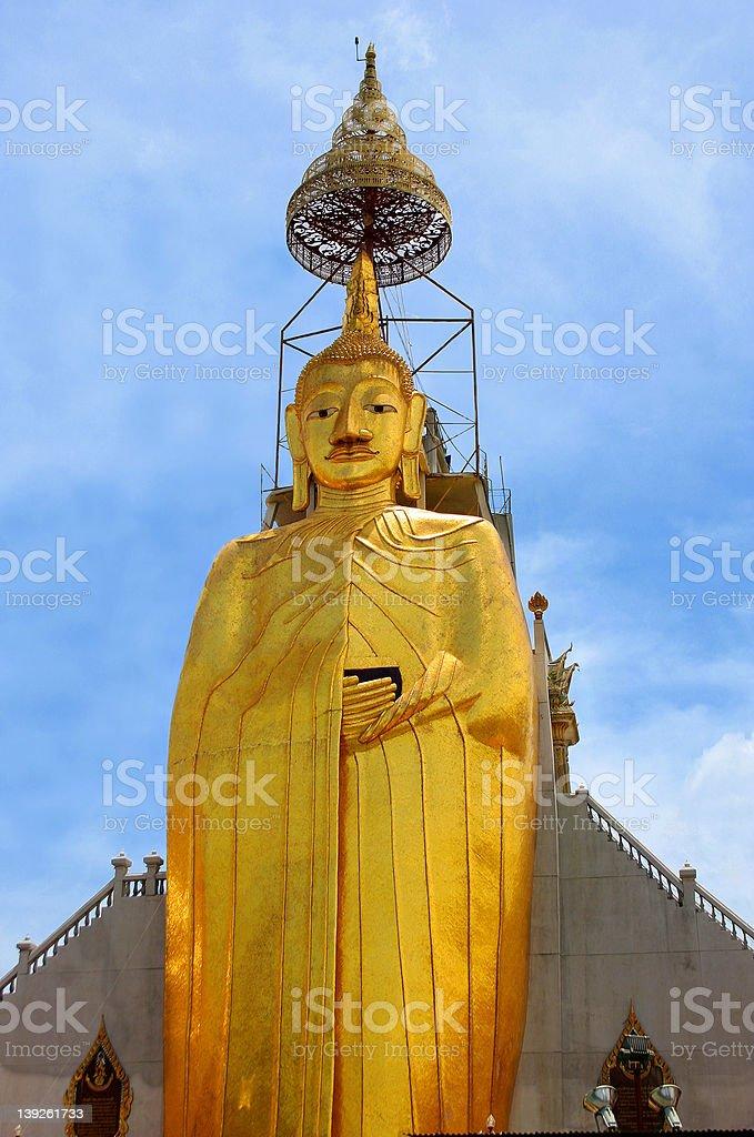 Tall standing Buddha Luang Pho To, Bangkok, Thailand royalty-free stock photo