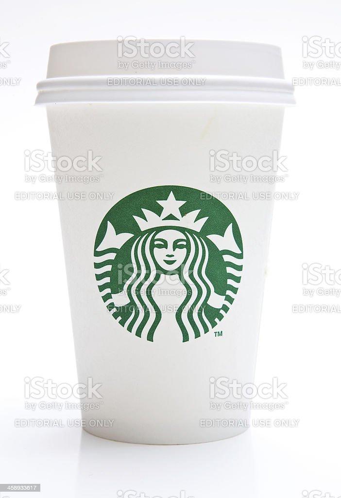 Tall Starbucks Coffee Cup stock photo
