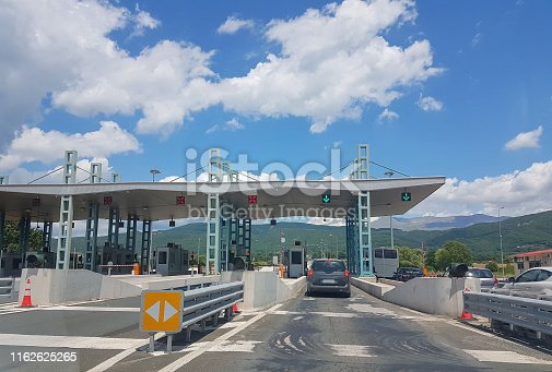 tall station in highway pay fee in Ioannina - Metsovo street greece