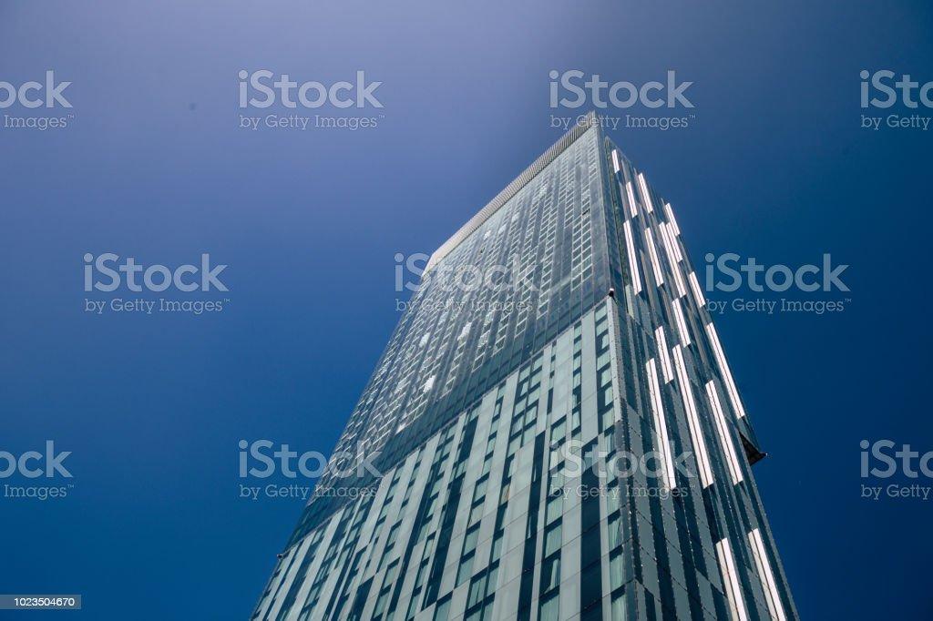 Tall vertical skyscraper stock photo