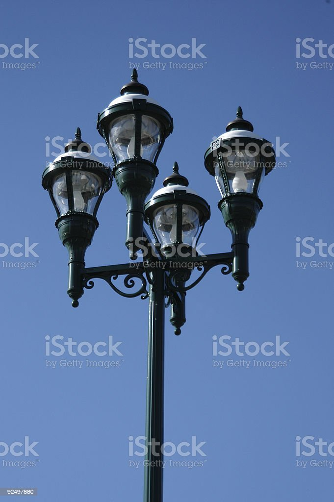Tall vintage lamp post royalty-free stock photo