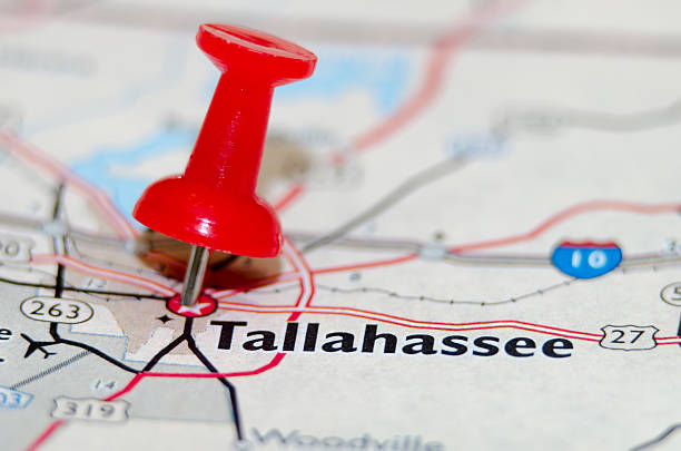 tallahassee fl city pin on the map stock photo