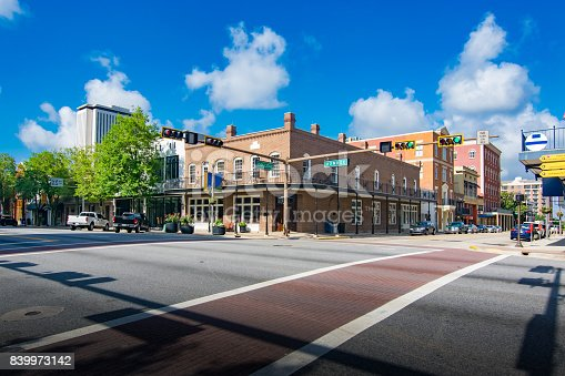 Downtown Tallahassee Florida at the intersection of College Ave. and Monroe Street.