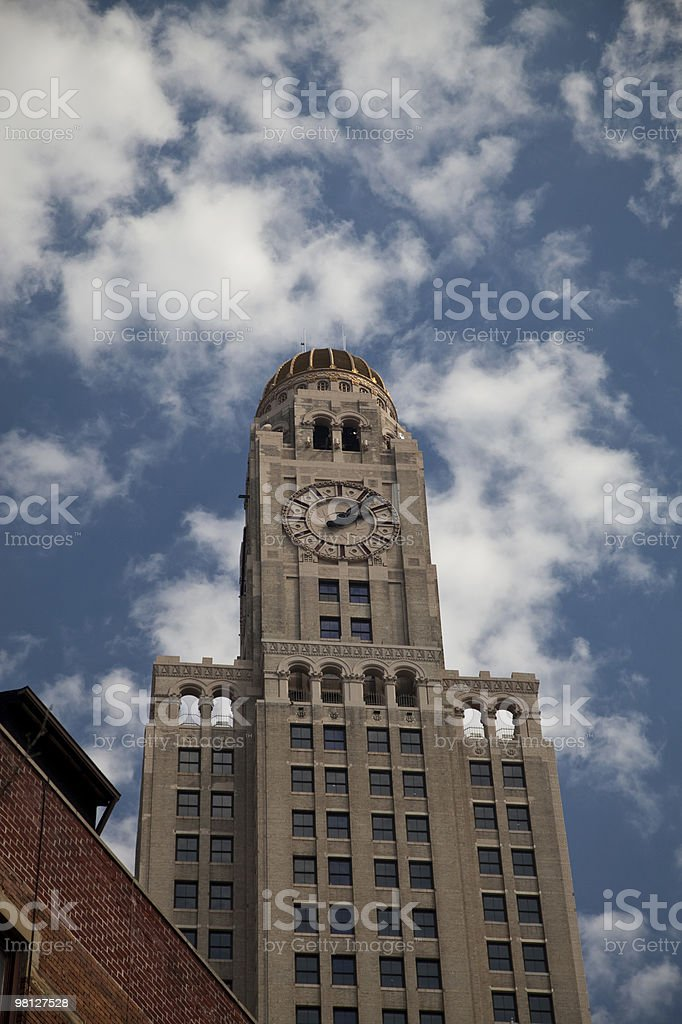 Tallest clock tower in Brooklyn New York royalty-free stock photo