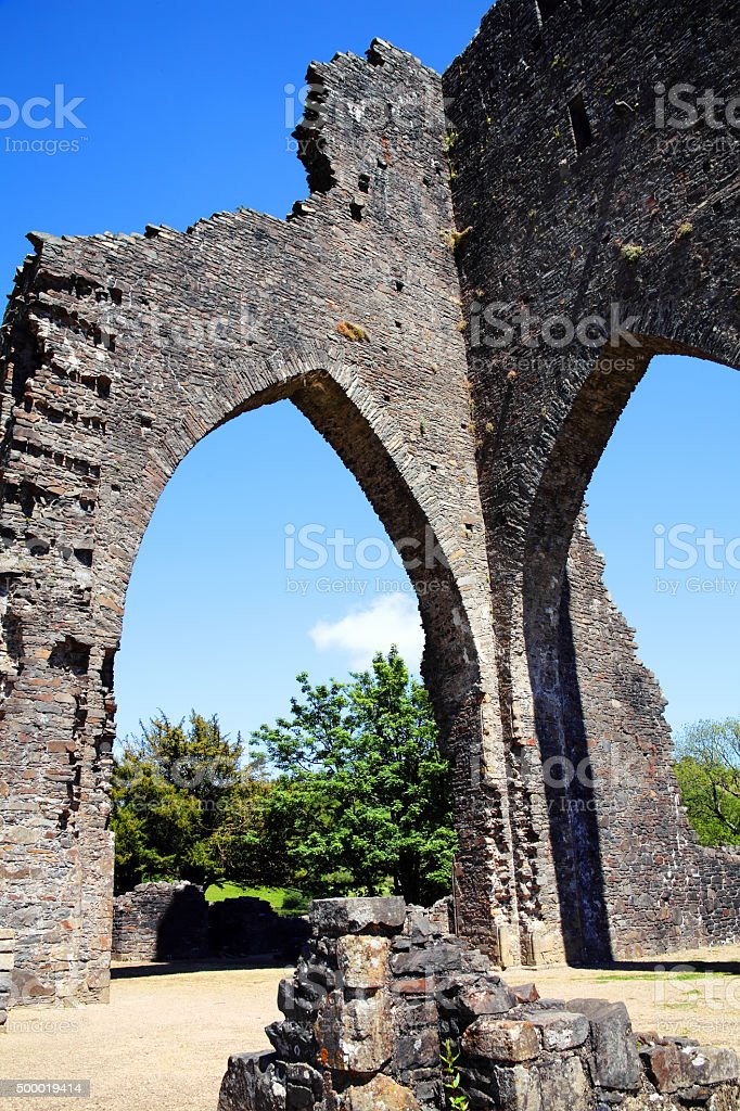 Talley Abbey, Carmarthenshire, Wales stock photo