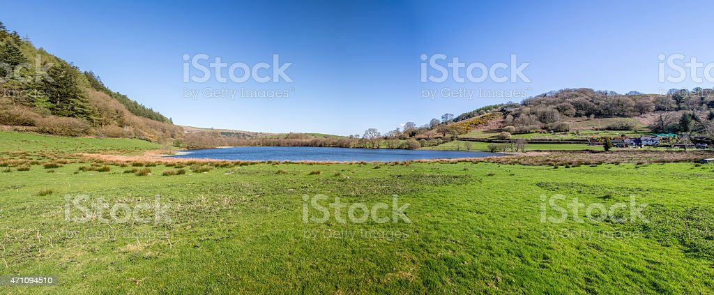 Talley lake in Wales stock photo