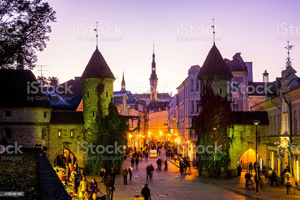 Tallin City Gates, Estonia stock photo
