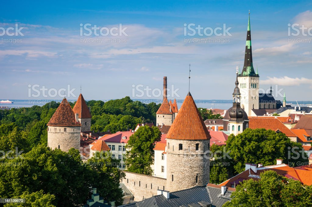 Tallinn aerial Old Town cityscape royalty-free stock photo