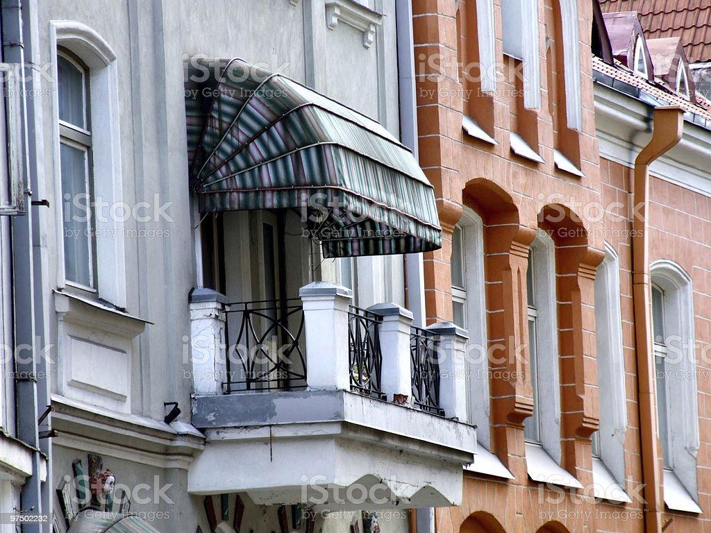 Tallinn architecture - old balcony royalty-free stock photo