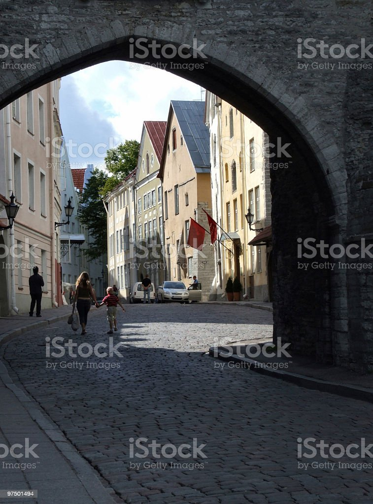 Tallinn - beautiful old town royalty-free stock photo