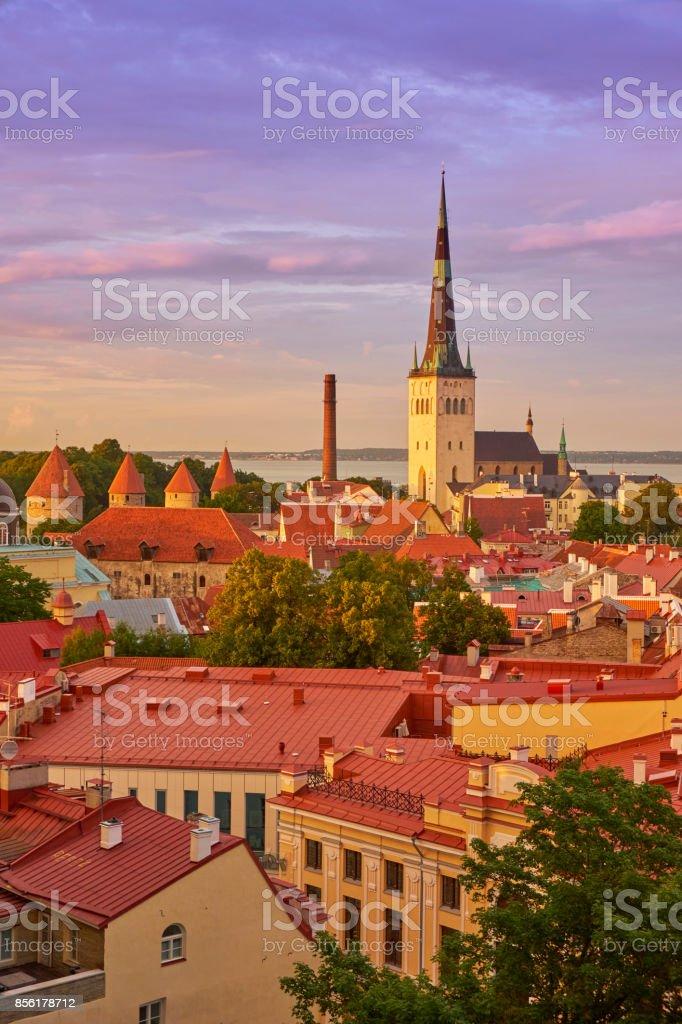 Tallinn cityscape stock photo