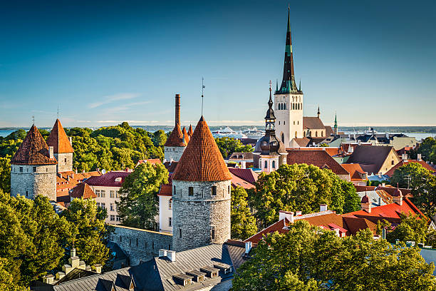 tallinn, estonia - estonya stok fotoğraflar ve resimler