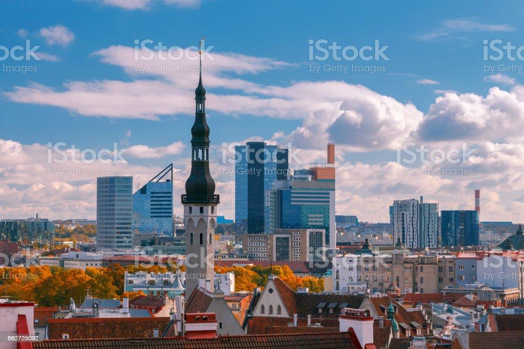 Tallinn. Old city stock photo