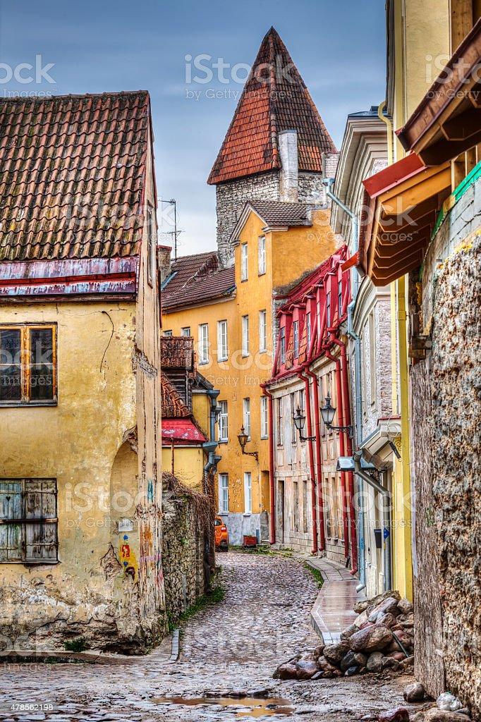 tallinn old town street estonia stock photo more. Black Bedroom Furniture Sets. Home Design Ideas