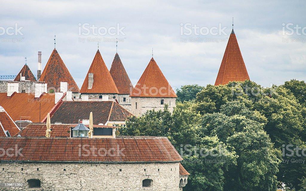 Tallinn old town view. royalty-free stock photo