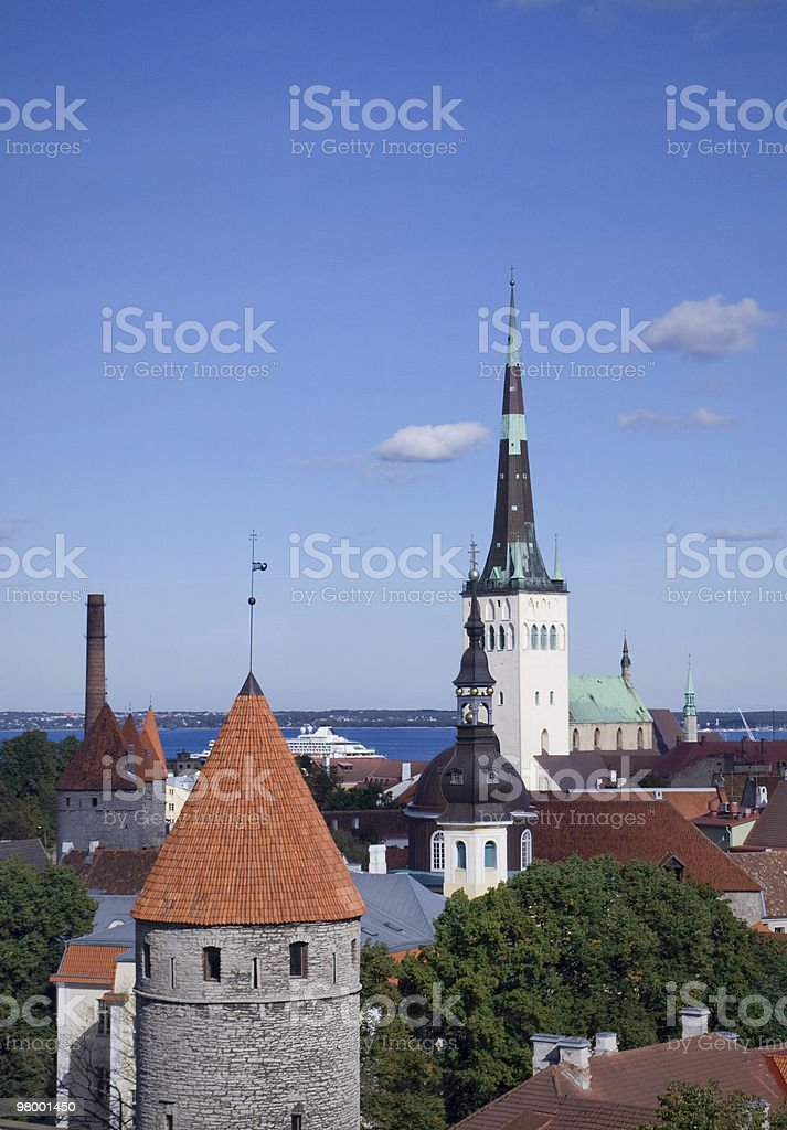 Tallinn towers royalty-free stock photo