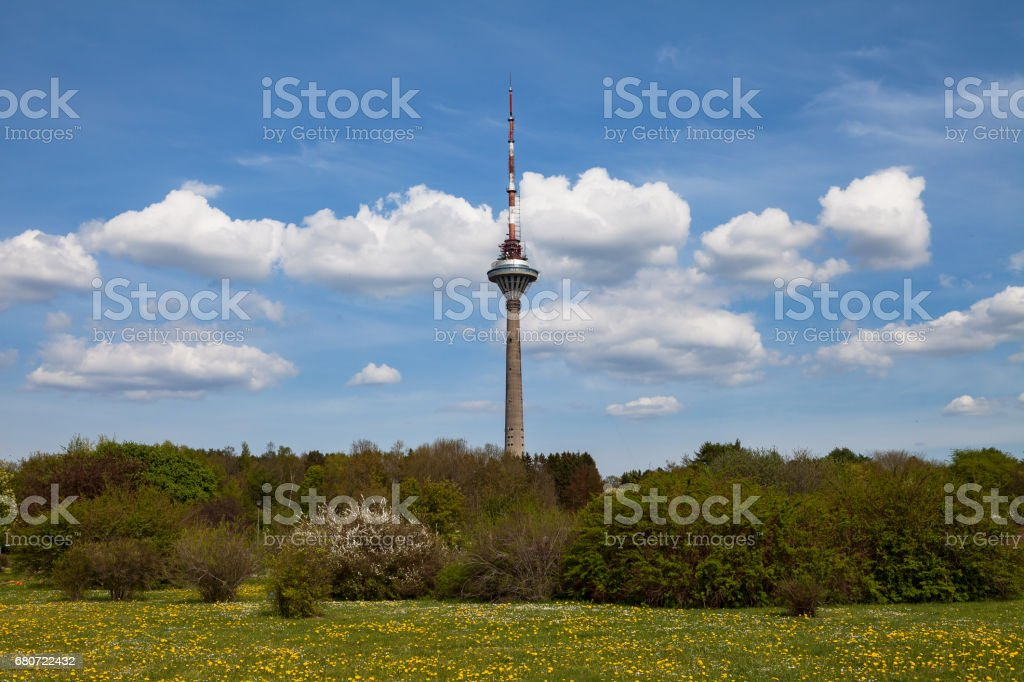 Tallinn TV tower, the highest building in Tallinn and Estonia stock photo
