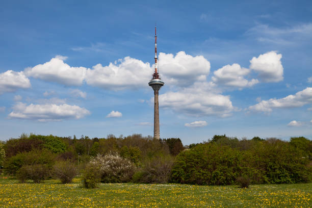 Tallinn TV tower, the highest building in Tallinn and Estonia stock photo