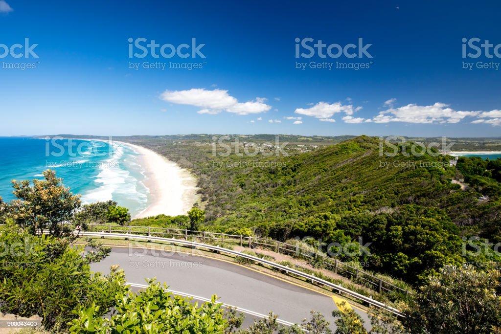 Tallows Beach in Byron Bay stock photo