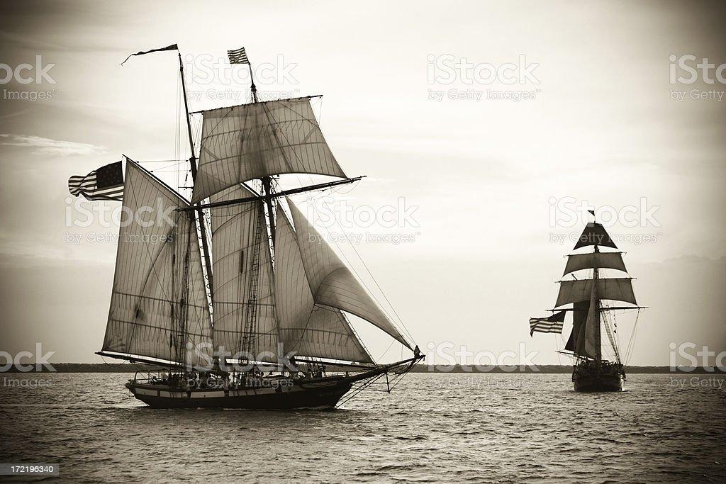 Tallships at sail stock photo
