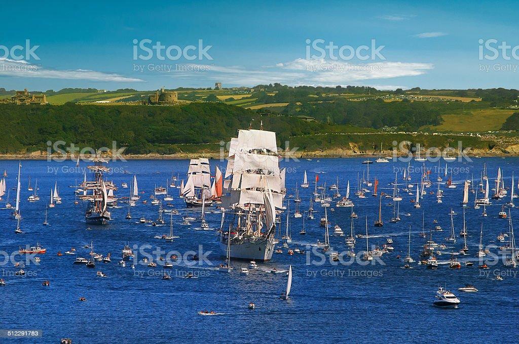 Tallships Regatta 2014 in Falmouth stock photo