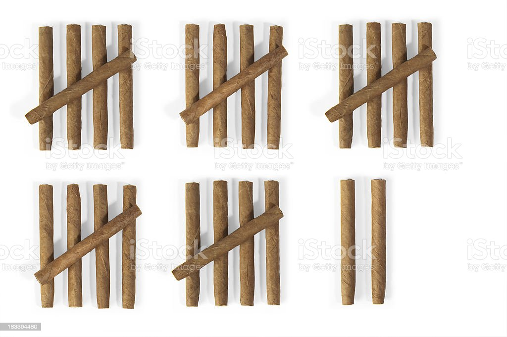 Tally Chart With Cigars Stock Photo More Pictures Of Calendar Istock