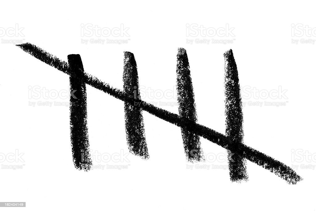 Tally Counting stock photo