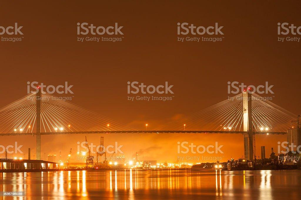 Talmadge Memorial bridge stock photo