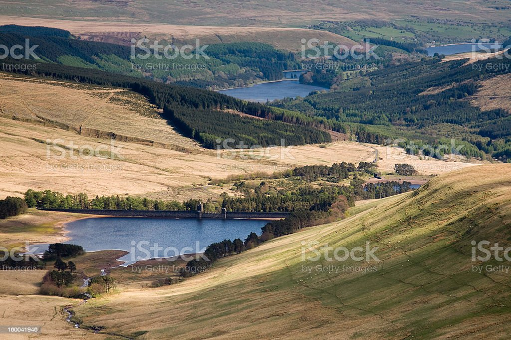 Talybont Reservoir in Brecon Beacons National Park royalty-free stock photo